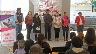 Realizan Inmujeres CDMX y delegación Iztacalco declaratoria de espacios libres de violencia para las mujeres y niñas