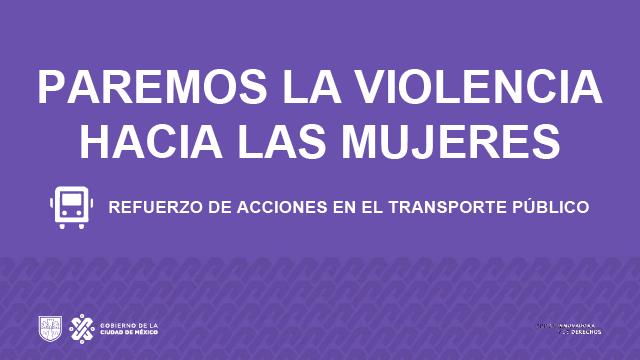 REFUERZO DE ACCIONES EN EL TRANSPORTE PÚBLICO